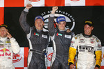 GT1 podium: class and overall winners Antonio Garcia and Christophe Bouchut celebrate