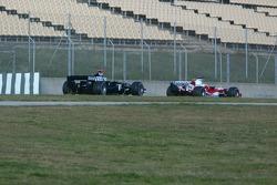 Ricardo Zonta and Nico Rosberg
