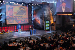 NASCAR Nextel Cup Awards Banquet at the Waldorf Astoria Hotel: Tony Stewart on stage