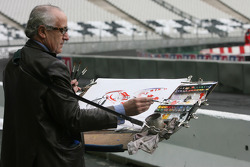 The Stade de France artist capturing the ROC champions in action during practice