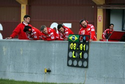 Pitboard of Felipe Massa
