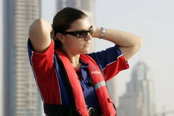 Powerboat demonstration: Katherine Legge in a Class One Offshore Powerboat with world champion Steve Curtis