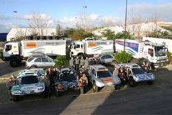 Vanguard Racing and SMG teams photoshoot: Henri Pescarolo and Didier Le Gal, Bernard Errandonea and Patrick Antoniolli, Ronn Bailey and Hervé Cotel, Philippe Gache and Jean-Pierre Garcin