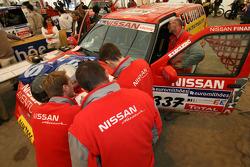 Nissan Dessoude team members at scrutineering