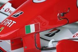 Measuring equipment on the Ferrari nose
