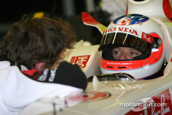 James Rossiter and Rubens Barrichello
