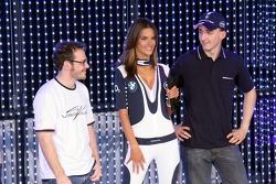 Jacques Villeneuve, Alessandra Ambrosio and Robert Kubica