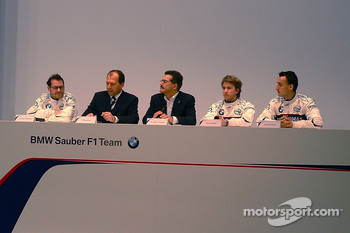 Jacques Villeneuve, Willy Rampf, Mario Theissen, Nick Heidfeld and Robert Kubica