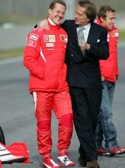 Michael Schumacher and Luca di Montezemelo