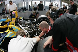 Highcroft Racing team members at work