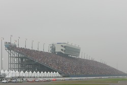 Race action on a hazy superstretch