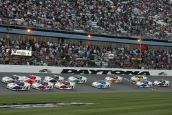 Green flag: Mark Martin and Scott Sharp lead the field