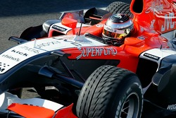 Giorgio Mondini test drives the Midland F1 car at Silverstone