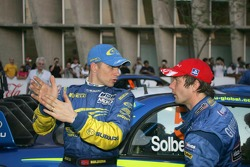 Petter Solberg and Sébastien Loeb discuss