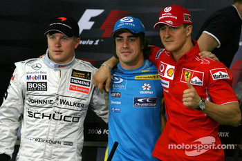 FIA press conference: Kimi Raikkonen, Fernando Alonso and Michael Schumacher