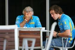 Flavio Briatore and Fernando Alonso