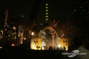 Entrance at the party