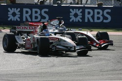 Jenson Button and Juan Pablo Montoya