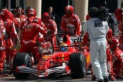 Felipe Massa in the pits