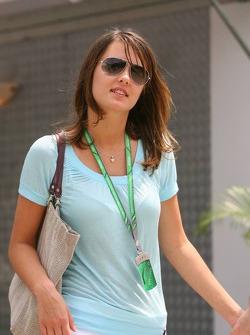 The new girlfriend of Jacques Villeneuve