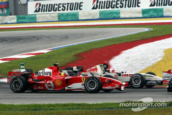 Start: Felipe Massa and Rubens Barrichello