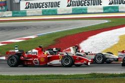 Start: Felipe Massa and Rubens Barrichello