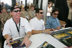 Johnny O'Connell, Max Papis and Ron Fellows