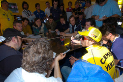 Valentino Rossi meets the media