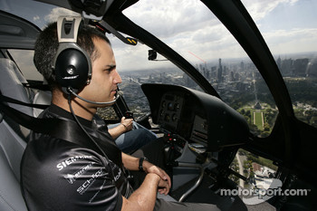 Helicopter ride for Juan Pablo Montoya
