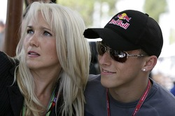 Christian Klien with a journalist