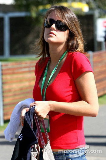 Jacques Villeneuve's girlfriend Johanna