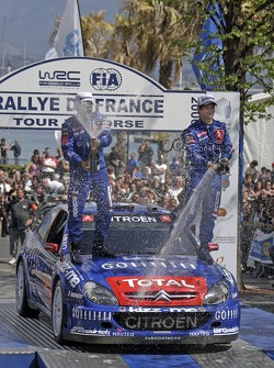 Champagne for Sébastien Loeb and Daniel Elena