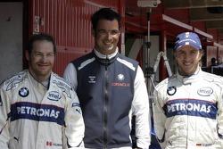 Jacques Villeneuve, Tony Kolb and Nick Heidfeld