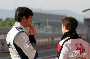 Mark Webber and Anthony Davidson