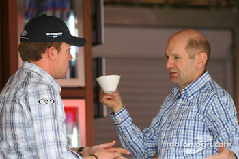 Robert Doornbos and Adrian Newey