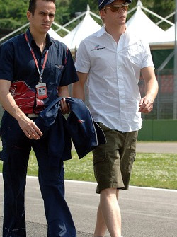 Race engineer Stefano Sordo and Scott Speed