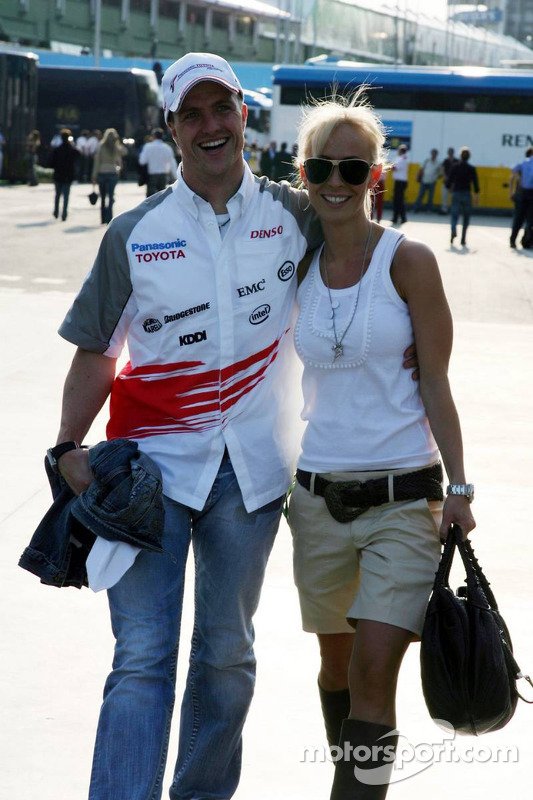 ralf schumacher with wife cora schumacher at san marino gp. Black Bedroom Furniture Sets. Home Design Ideas