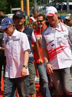 Drivers presentation: Nick Heidfeld and Ralf Schumacher