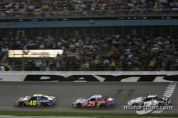 Jimmie Johnson, Brian Vickers and Ryan Newman