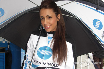 The lovely Konica Minolta Honda girl