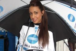 The lovely Konica Minolta Honda girl