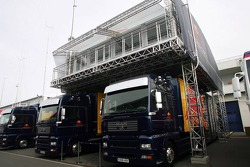 Red Bull Racing F1 team transporters