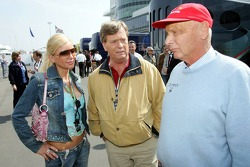 Niki Lauda with Tatjana Gsell and Prinz Ferfried von Hohenzollern