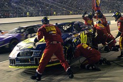 Greg Biffle comes in for a pitstop during a caution