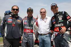 Colin Kolles, Tiago Monteiro, Alex Shnaider and Christijan Albers