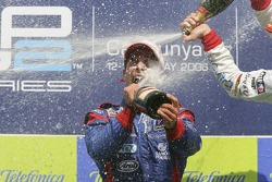 Ernesto Viso race winner sprays champagne