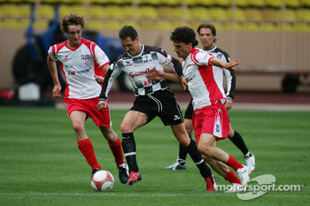 Charity football match: Michael Schumacher and Pierre Casiraghi, son of Princess Carloline and newphew of Prince Albert II of Monaco
