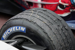 Close-up of a Michelin tire