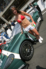 The BMS Scuderia Italia flag girl