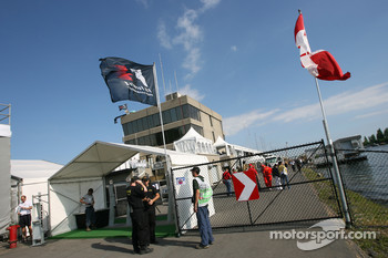Paddock entrance